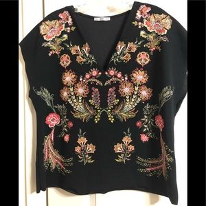 Zara collection flower blouse